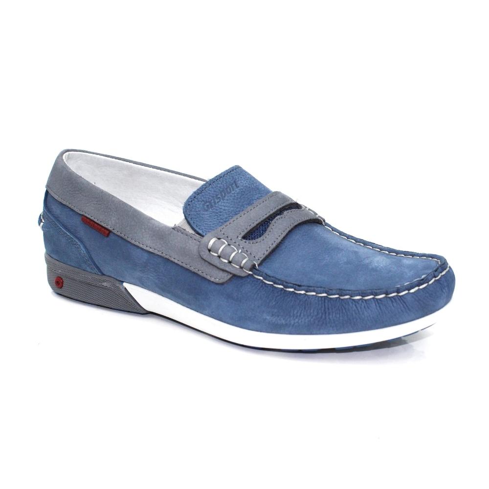 847162442cbc Grisport Basalt Blue Boat Shoe - Comfort Shoes from Grisport UK