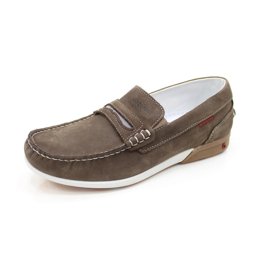 d4bc8e6b4f60 Grisport Basalt Brown Boat Shoe - Comfort Shoes from Grisport UK