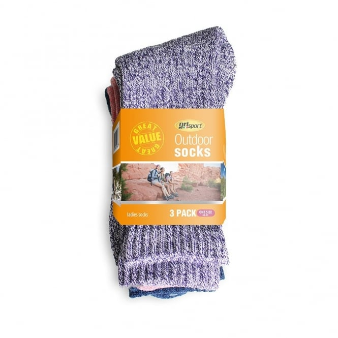 Grisport Ladies Outdoor Multipack Socks