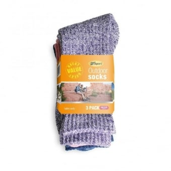Ladies Outdoor Multipack Socks