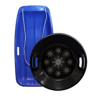 Large Blue And Black Disc Sledge Twin Pack